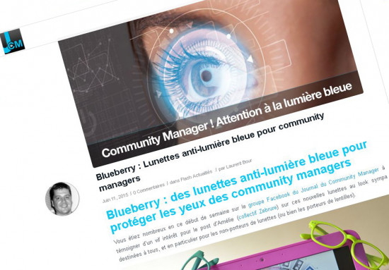 Blueberry Glasses Journal du Community Manager